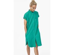 Hemdblusenkleid aus Popeline emerald