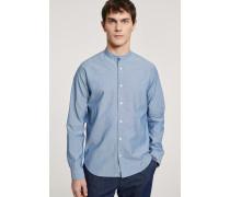 Stehkragenhemd mid blue