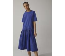 Oversized Shirt Dress dark sea