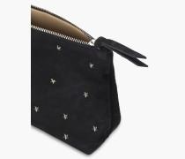 Clutch mit Sternchen-Nieten off black