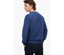 Sweatshirt mit  Schriftzug indigo blue