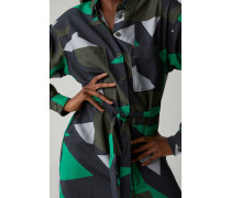 Hemdblusenkleid mit grafischem Print multi color
