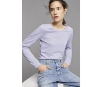 Langarmshirt aus Melange Jersey violet sky