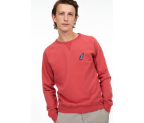 Sweatshirt mit Shooting Star Badge vermillion
