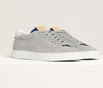 Sneaker aus Veloursleder silver grey