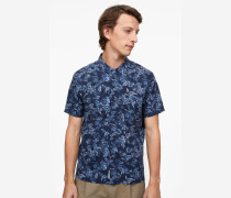 Hemd mit Hawaii-Print navy