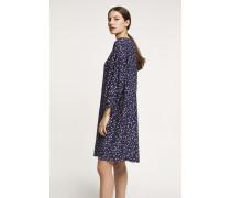 Kleid aus Viskose &amp: Seide dark night