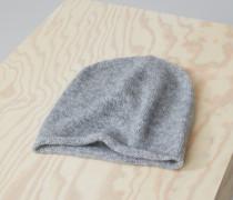Strickmütze aus Royal Baby Alpaka Mix grey heather melange