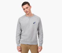 Sweatshirt mit Shooting Star Badge light grey melange