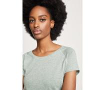T-Shirt aus Melange Jersey grass green
