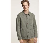Worker Jacket mit Stickerei deep woods