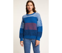 Strickpullover aus Royal Baby Alpaka Mix electric blue