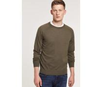 Pullover aus reinem Merino Feinstrick deep woods