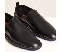 Slip Ons aus Leder black