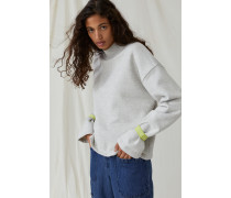 Stehkragen Sweatshirt light grey melange