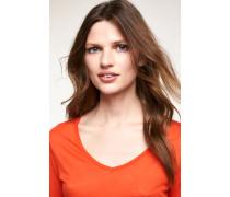 Luxury Basic Langarmshirt orange lava