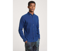 Button Down Hemd mid blue