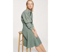 Green Denim Skirt grass green