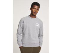 Sweatshirt mit Print grey heather melange