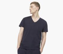 Basic V-Neck Shirt navy