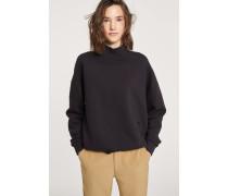 Sweatshirt mit Stehkragen black