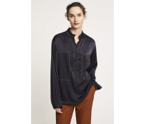 Worker Shirt aus Viskose navy