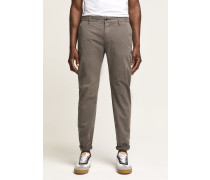 Clifton Slim Brushed Chino mid grey