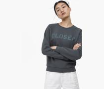 Sweatshirt mit  Print pine tree