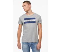 T-Shirt mit Print light grey melange
