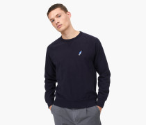 Sweatshirt mit Shooting Star Badge navy