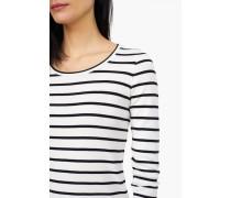 Langarmshirt mit Streifen wool white