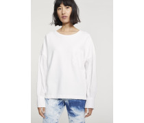 Material Mix Sweatshirt white