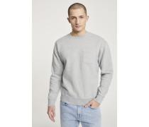 Sweatshirt mit Brusttasche light grey melange