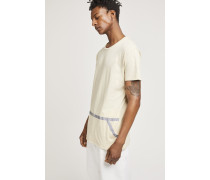 x F. Girbaud T-Shirt mit reflektierendem Print light beige