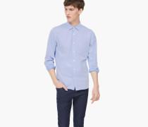 Baumwoll Twill Hemd dazzling blue