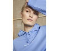 Print Hoodie oxford blue