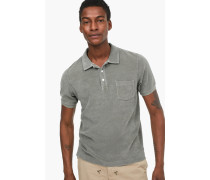 Frottee T-Shirt pale olive