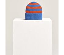 Strickmütze aus Royal Baby Alpaka Mix electric blue