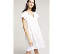 Kleid mit Jacquardmuster white