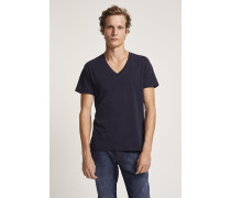 Basic V Neck Shirt dark night