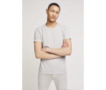 T-Shirt aus Melange Jersey light grey melange