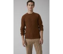 Raglan Wollpullover fox brown
