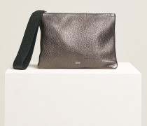 Metallic Clutch dark grey melange