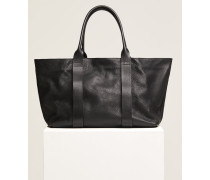 Leder Shopper black