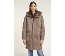 Shearling Parka greyed off lilac