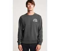 Sweatshirt mit Print olive nights