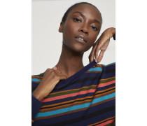 Gestreifter Pullover aus Leinen & Baumwolle indigo blue