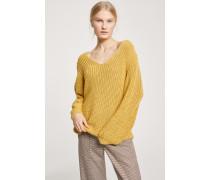 V-Pullover aus Baumwollstrick afternoon sun