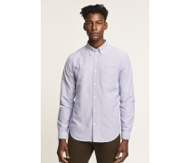 Button Down Hemd aus Oxford new woad