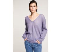 Pullover mit V-Ausschnitt cornflower